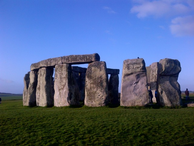 Stonehenge close up.